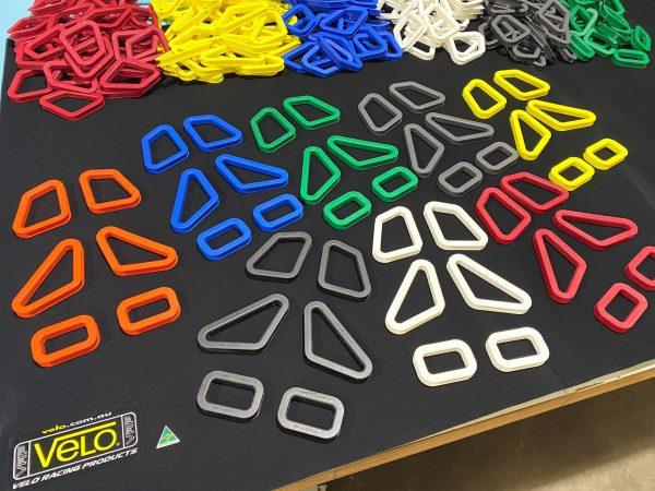 Velo Coloured harness slot guides