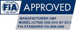 OMP One Evo shoes FIA Logo