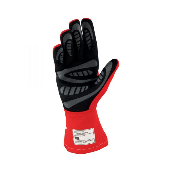 First S glove red inside