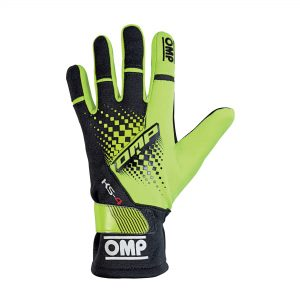omp ks-4 kart glove yellow front