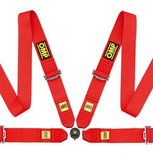 OMP 801 4 Point Harness red