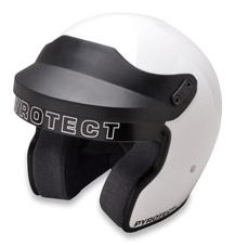 Pyrotect SA2010 Open Face Helmet - WHITE-SMall