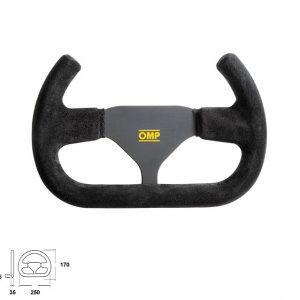 OMP Indy Open Suede 250mm Steering Wheel | OD2017