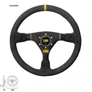 OMP WRC Suede 350mm Steering Wheel | OD1979N