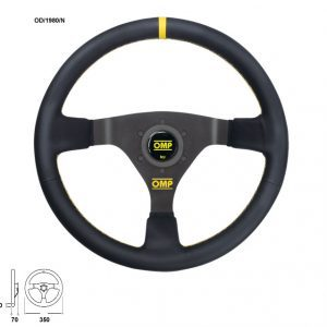 OMP WRC Leather 350mm Dished Steering Wheel | OD1980N