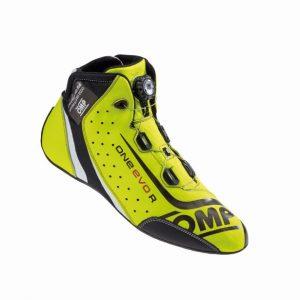 OMP One Evo R Race Shoes fluro yellow