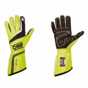 OMP ONE S Race Gloves - Fluro Yellow XS
