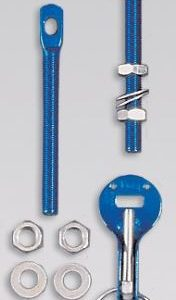 OMP Aluminium Bonnet Pins EB/492