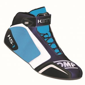 OMP KS-1 Kart Shoes navy blue/white/cyan