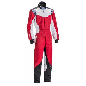 Sparco KS-5 Kart Suit - Red-White-Black - Small