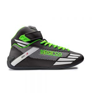 Sparco Mercury KB-3 Kart Shoes - Black-Fluro Green EU41 (US8.0)