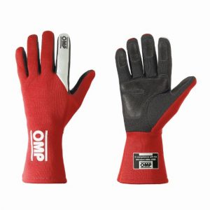 OMP First S Race Gloves - Red - XS