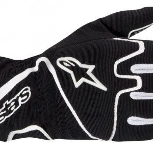 Alpinestars Tech 1-K Race Kart Gloves - Black White - XL