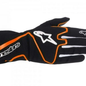 Alpinestars Tech 1-K Race Kart Gloves - Black Orange Fluro - Large