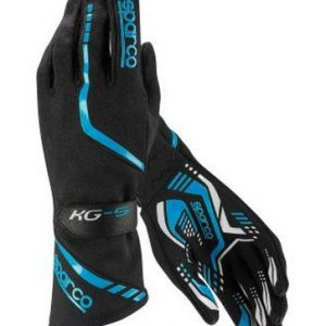Sparco Torpedo KG-5 Kart Gloves - Black Blue - XXL (13)