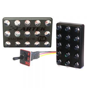 CARTEK F3 Triple Mode Rain Light with Switch - FIA APPROVED