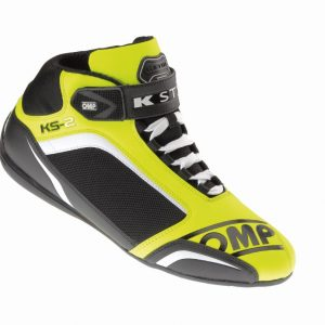 OMP KS-2 Kart Shoes fluro yellow