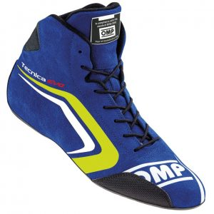 OMP Tecnica Evo Race Shoes blue/fluro yellow