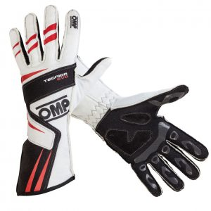 OMP 2018 Tecnica Evo Race Gloves white/black/red