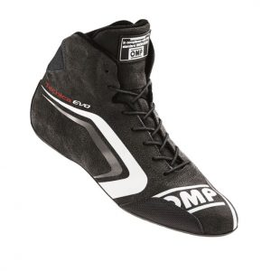 OMP Tecnica Evo Race Shoes - Black-Grey EU44 (US10.5)