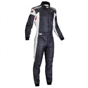 OMP Tecnica Evo Race Suit - Black-White - EU62