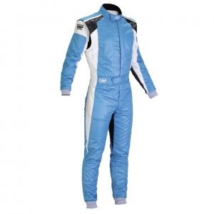 OMP Tecnica Evo Race Suit - Light Blue - EU62