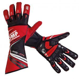OMP KS-2R Kart Gloves RED/BLACK