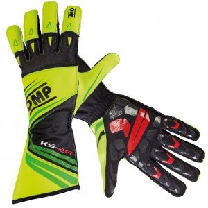 OMP KS-2R Kart Gloves FLURO YELLOW/GREEN