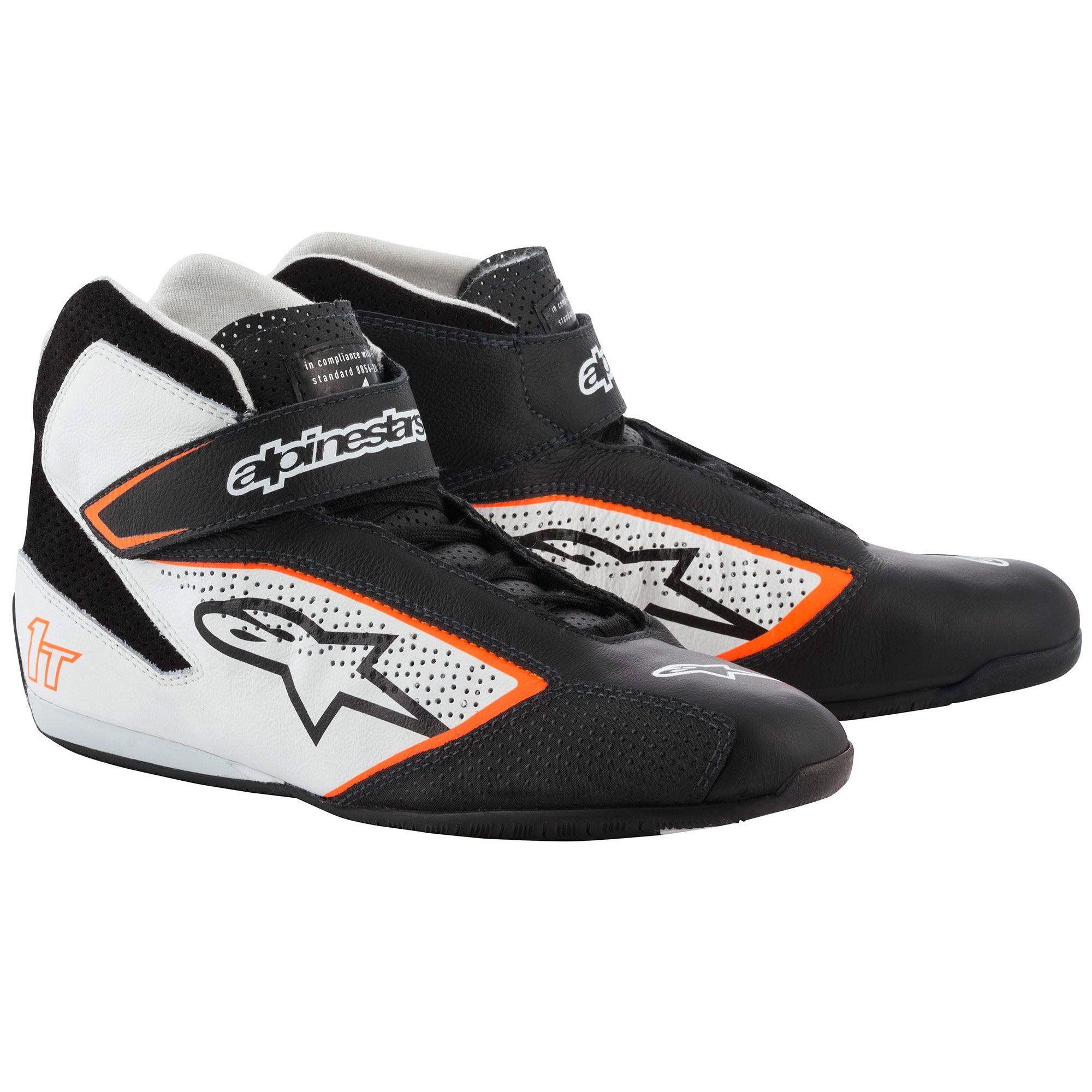 Alpinestars Tech 1-T Race Shoes black/white/fluro orange