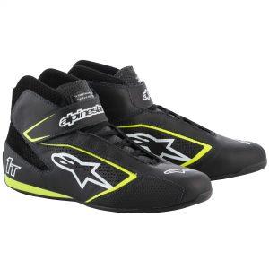 Alpinestars Tech 1-T Race Shoes black/white/fluro yellow