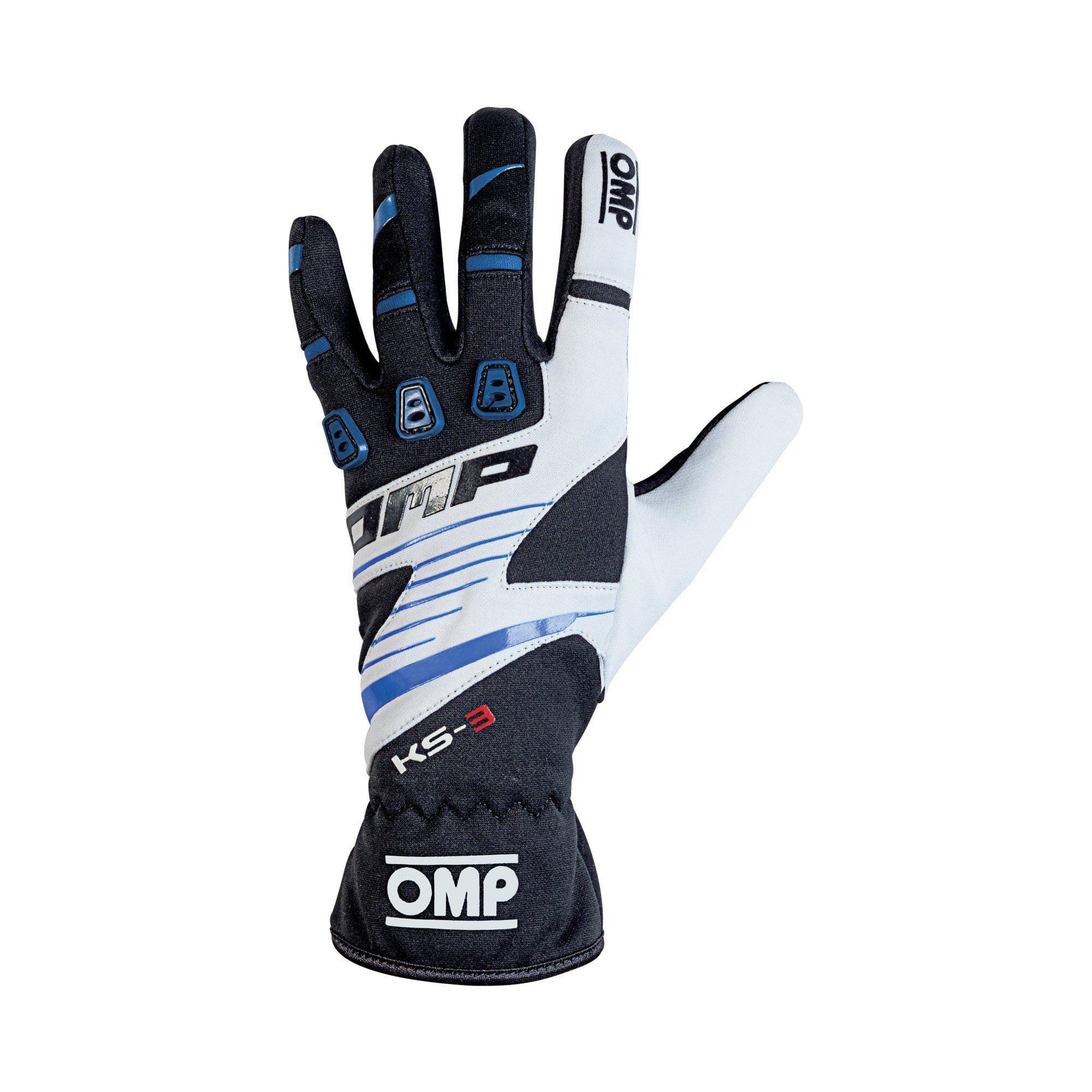 OMP 2019 KS-3 Kart Gloves blue