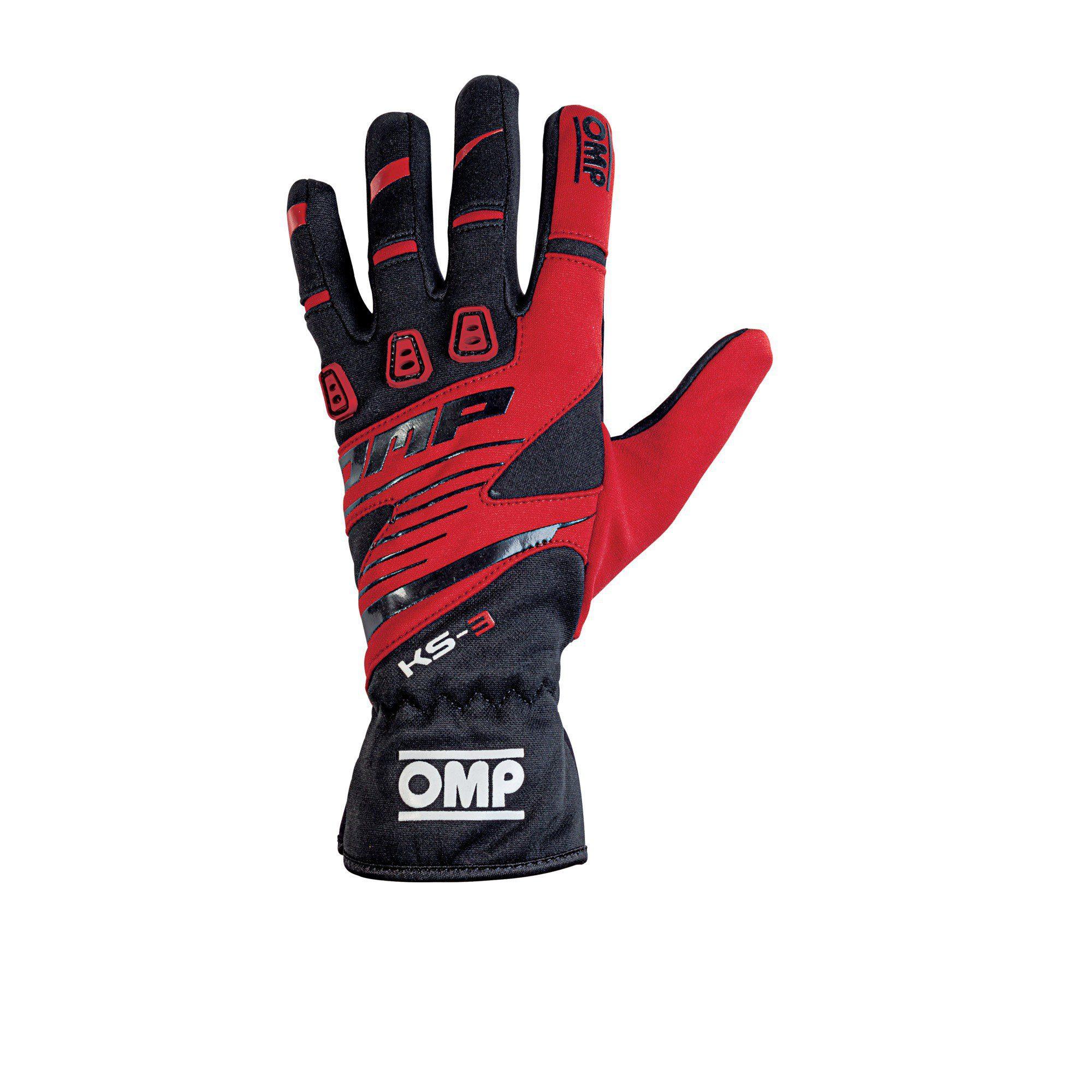 OMP 2019 KS-3 Kart Gloves red