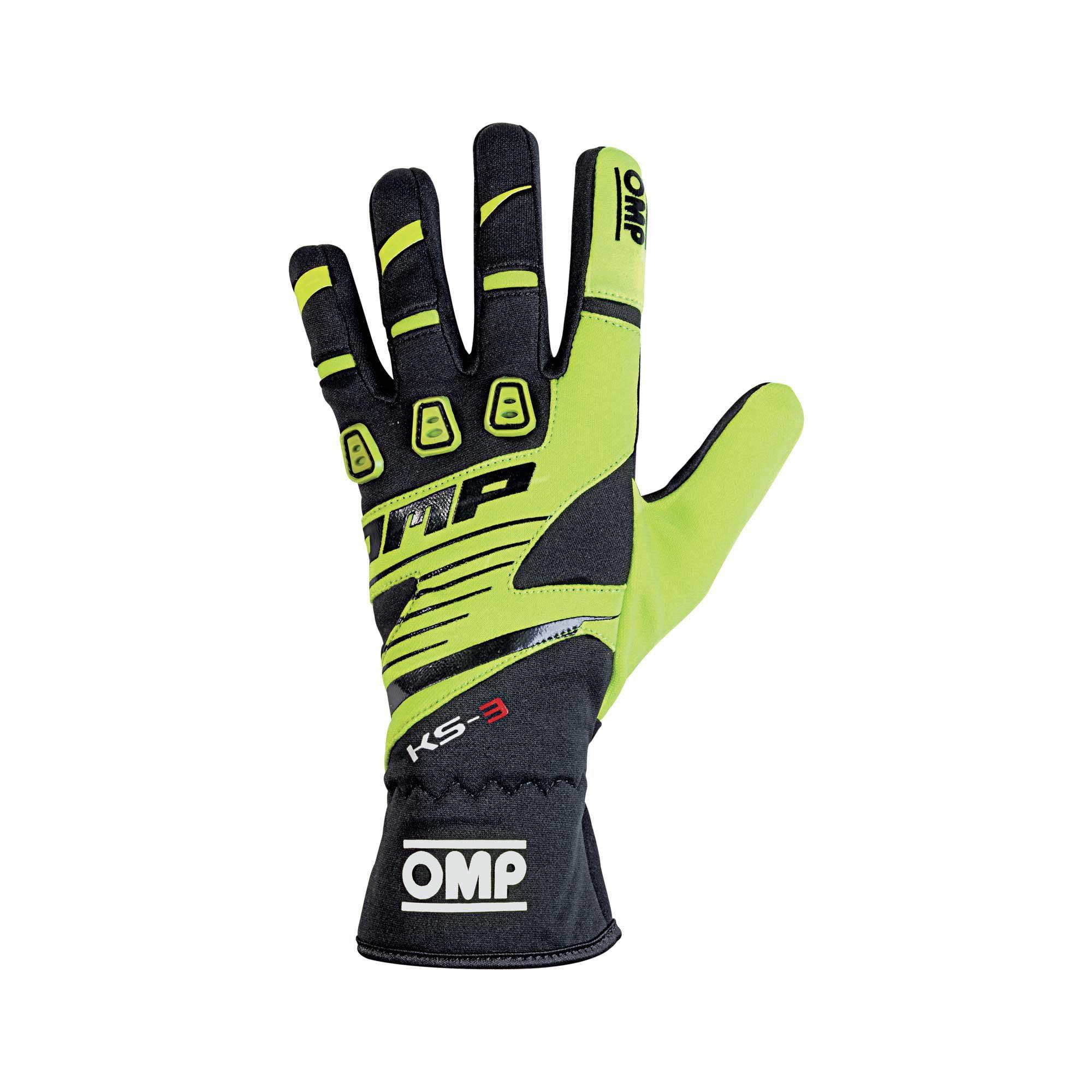 OMP 2019 KS-3 Kart Gloves yellow