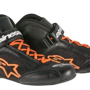 Alpinestars Tech 1-K Kart Shoes - Black-Orange EU44 (US11)