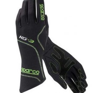 Sparco Blizzard KG-3 Kart Gloves - Black-Green - XXL (13)