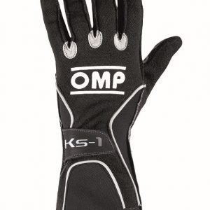 OMP KS-1 Kart Gloves - Black-Grey-White XS