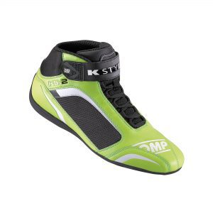 OMP KS-2 Kart Shoes - Green- EU40 (US7.5)