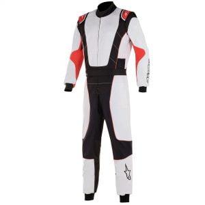 Alpinestars KMX-3 V2 Kart Suit - White-Black-Red front