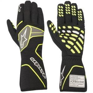 Alpinestars Tech 1 Race V2 Gloves - Black-Fluro Yellow
