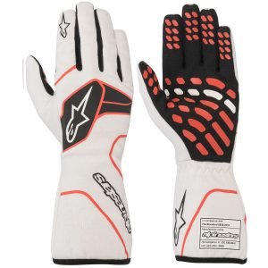 Alpinestars Tech 1 Race V2 Gloves - White-Black-Red