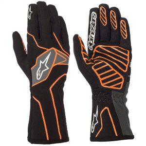 Alpinestars Tech 1-K V2 Kart Gloves - Black-Fluro Orange