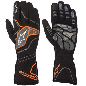 Alpinestars Tech 1-KX V2 Kart Gloves - Black-Fluro Orange
