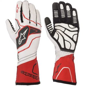 Alpinestars Tech 1-KX V2 Kart Gloves - White-Red-Black