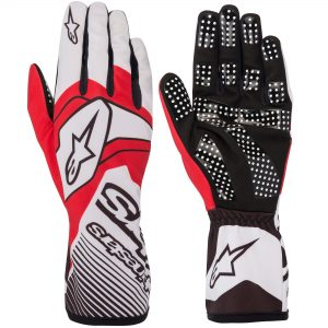 Alpinestars Tech 1-K Race V2 Kart Gloves - White-Red