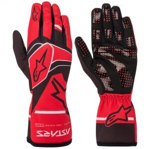 Alpinestars Tech 1-K Race V2 Kart Gloves - Red-Black-Grey