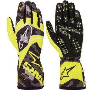 Alpinestars Tech 1-K Race V2 Kart Gloves - Fluro Yellow-Black