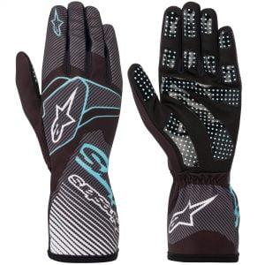 Alpinestars Tech 1-K Race V2 Kart Gloves - Black-Turquiose