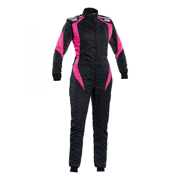 First Elle Suit my2020 Black-Fuchsia Front