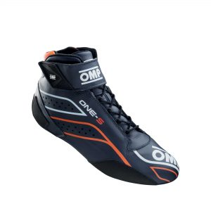 OMP One-S Shoes Navy Blue-Fluro Orange