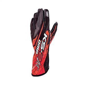 OMP KS-2 Art Gloves Black-Red front
